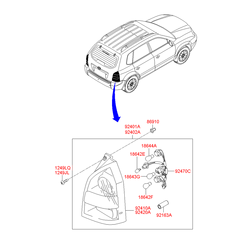 Лампочка (Hyundai-KIA) 1864316004N