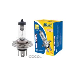 Лампа галогеновая h4 60/55w p43t (Kraft) KT700010