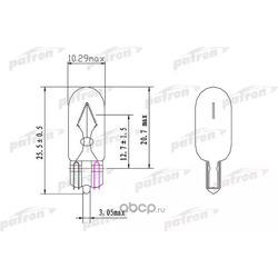 Лампа накаливания (10шт в упаковке) wy5w na 12v (оранжевая) (PATRON) PLWY5W