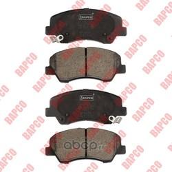 Колодки тормозные дисковые передние (комплект) (BAPCO) BP0676