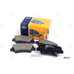 Колодки тормозные дисковые (HOLA) BD831