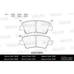 Колодки тормозные задние (Miles) E410062