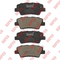 Колодки тормозные дисковые задние, комплект (BAPCO) BP0656