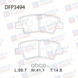 Колодки тормозные дисковые (DOUBLE FORCE) DFP3494