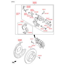 Тормозной суппорт (Hyundai-KIA) 583111RA30