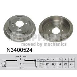 Тормозной барабан (Nipparts) N3400524
