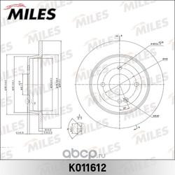 Диск тормозной задний d262мм (Miles) K011612