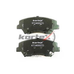 Колодки тормозные передние (комплект) (KORTEX) KT1400STD