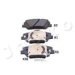 Комплект дисковых тормозных колодок (JAPKO) 50K26