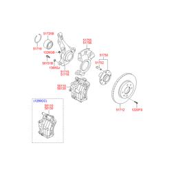Сальник тормозного цилиндра hyundai (Hyundai-KIA) 5811424000