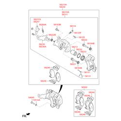 Пыльник поршня тормозного суппорта (Hyundai-KIA) 5823328300