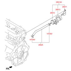 Опора клапана контроля наддува (Hyundai-KIA) 290132B000