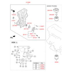 Уплотнительное кольцо блока цилиндров (Hyundai-KIA) 214212B030