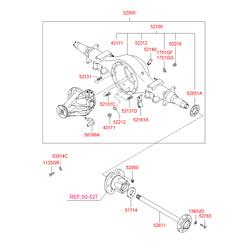 Уплотнительное кольцо заглушки корпуса ведущего моста (Hyundai-KIA) 5221211100
