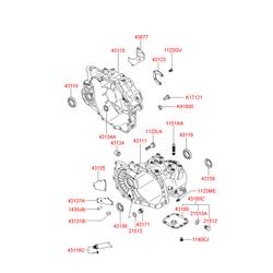 Уплотняющее кольцо, ступенчатая коробка передач (Hyundai-KIA) 4313434000