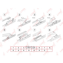 Бескаркасная щетка стеклоочистителя 650мм/ 26 (LYNX auto) XF650