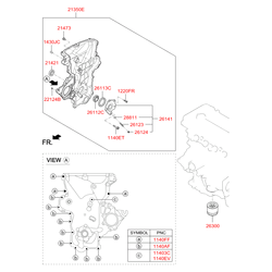 Крышка привода грм (Hyundai-KIA) 213502B001