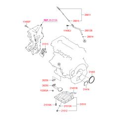 Поддон масляный двигателя (Hyundai-KIA) 215102B020