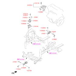 Опорный узел двигателя (Hyundai-KIA) 218104L000