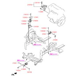 Опорный узел двигателя (Hyundai-KIA) 218301R000