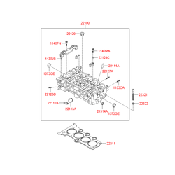 Головка блока (Hyundai-KIA) 221002B100