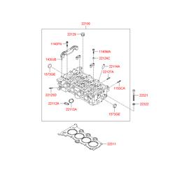 Головка блока цилиндров (Hyundai-KIA) 221002B002