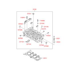 Прокладка гбц металлическая многослойная (Hyundai-KIA) 223112B001