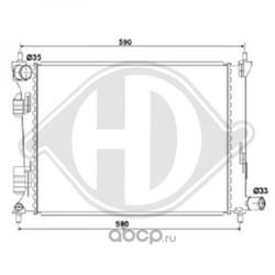 Радиатор охлаждение двигателя (DIEDERICHS) DCM3718