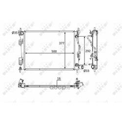 Радиатор двигателя (NRF) 58556