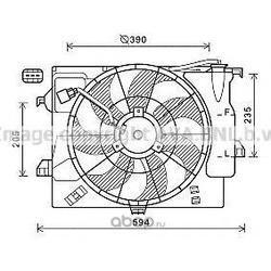 Вентилятор охлаждение двигателя (Ava) HY7546