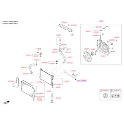 Вентилятор охлаждения (Hyundai-KIA) 253801R351
