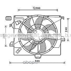 Вентилятор (Ava) HY7542