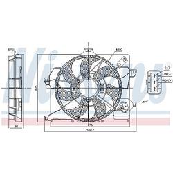 Вентилятор охлаждение двигателя (Nissens) 85898