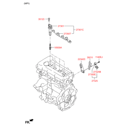 Катушка зажигания (Hyundai-KIA) 273002B010