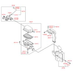 Трубка воздухоочистителя (Hyundai-KIA) 281381R000