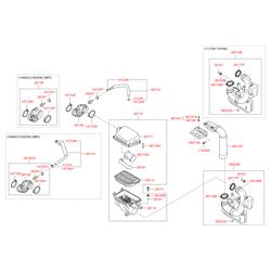 Патрубок воздушного фильтра пластиковый (Hyundai-KIA) 281381R010