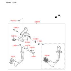 Педаль сцепления (Hyundai-KIA) 328021R100