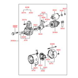 Бендикс стартера (Hyundai-KIA) 3614521730