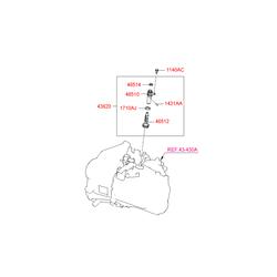 Шестерня спидометра (Hyundai-KIA) 4362128050