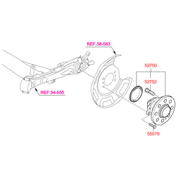 Ступица колеса (Hyundai-KIA) 527501R000
