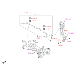 Гайка металлическая (Hyundai-KIA) 545591F000