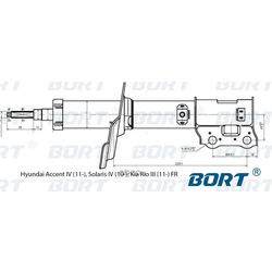 Стойка амортизационная газомасляная передняя правая (BORT) G22048038R