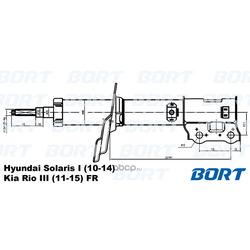 Стойка амортизационная газомасляная / передняя / правая (BORT) G22048039R