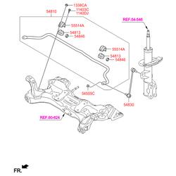 Стойка стабилизатора (Hyundai-KIA) 548101R000