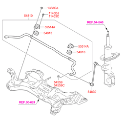 Втулка стабилизатора (Hyundai-KIA) 548133X000