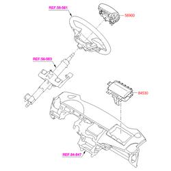 Подушка безопасности (Hyundai-KIA) 569001R000RY