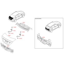 Панель крышки багажника в сборе (Hyundai-KIA) 692004L000