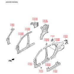 Панель кузова (Hyundai-KIA) 715034LC00