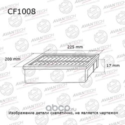 Фильтр салонный (AVANTECH) CF1008