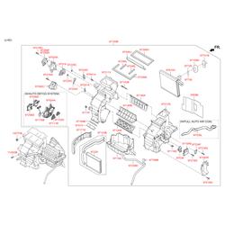Рычаг заслонки отопителя (Hyundai-KIA) 971832P300